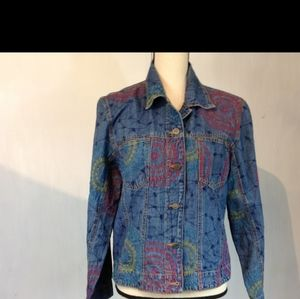 Chicos embroidery blue  denim jacket